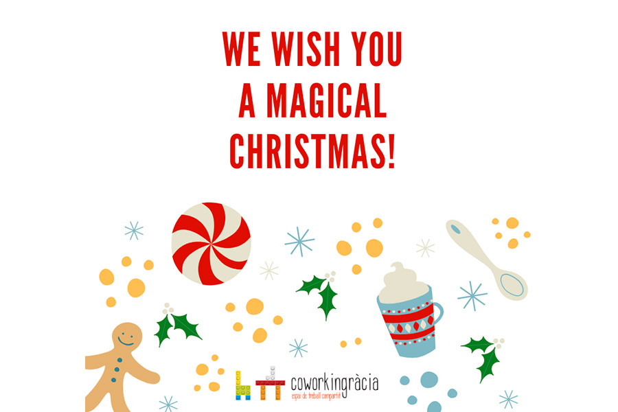 We wish you Merry Christmas from Coworking Gràcia